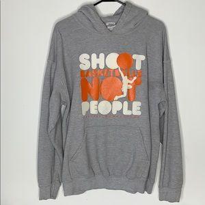 Shoot Basketballs Not People Sweatshirt